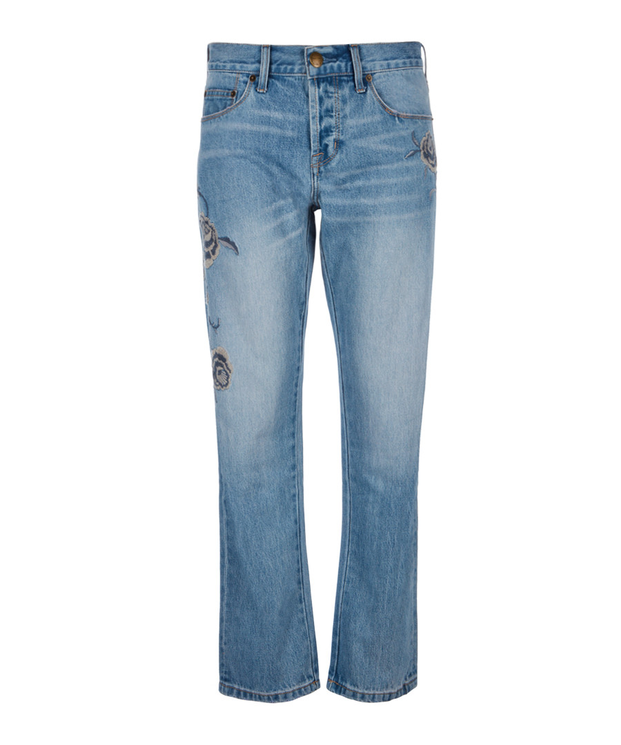 The Crossover pure cotton straight jeans Sale - current elliot