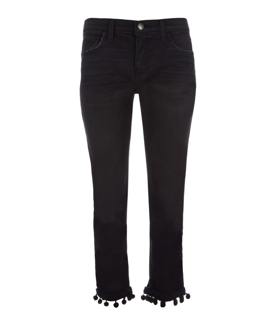 The Cropped Straight cotton pompom jeans Sale - Current Elliott