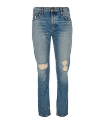 The Slouchy Skinny distressed jeans