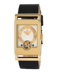 Delft gold-tone case watch