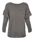 The Ruffle grey cotton blend sweatshirt Sale - Current Elliott Sale
