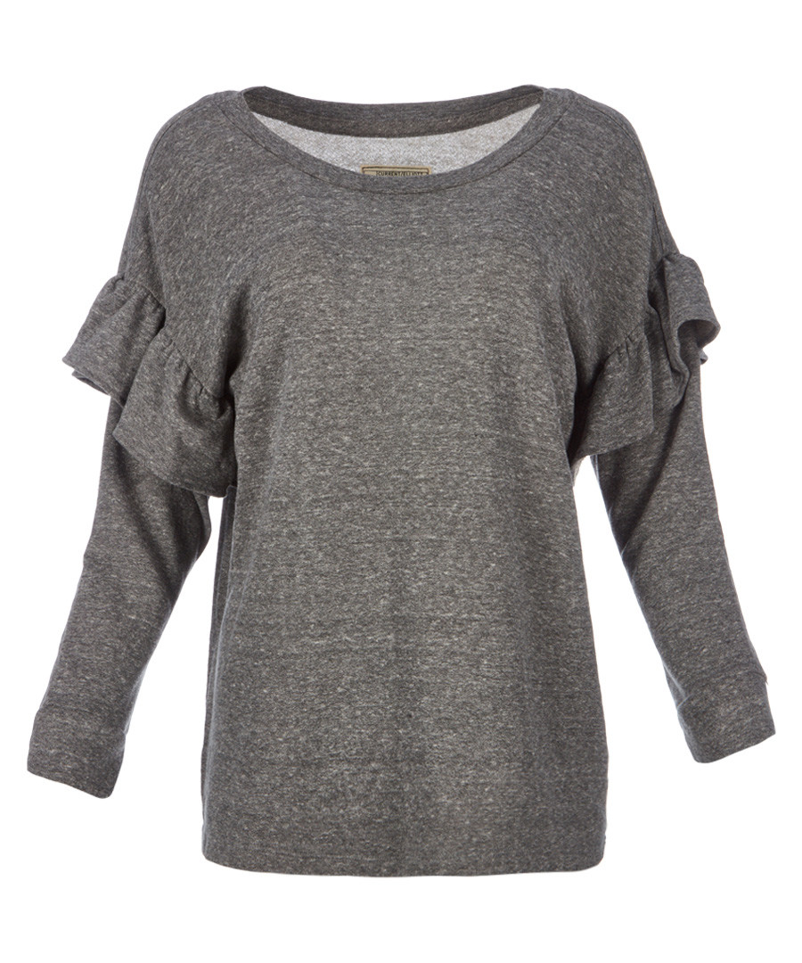 The Ruffle grey cotton blend sweatshirt Sale - Current Elliott