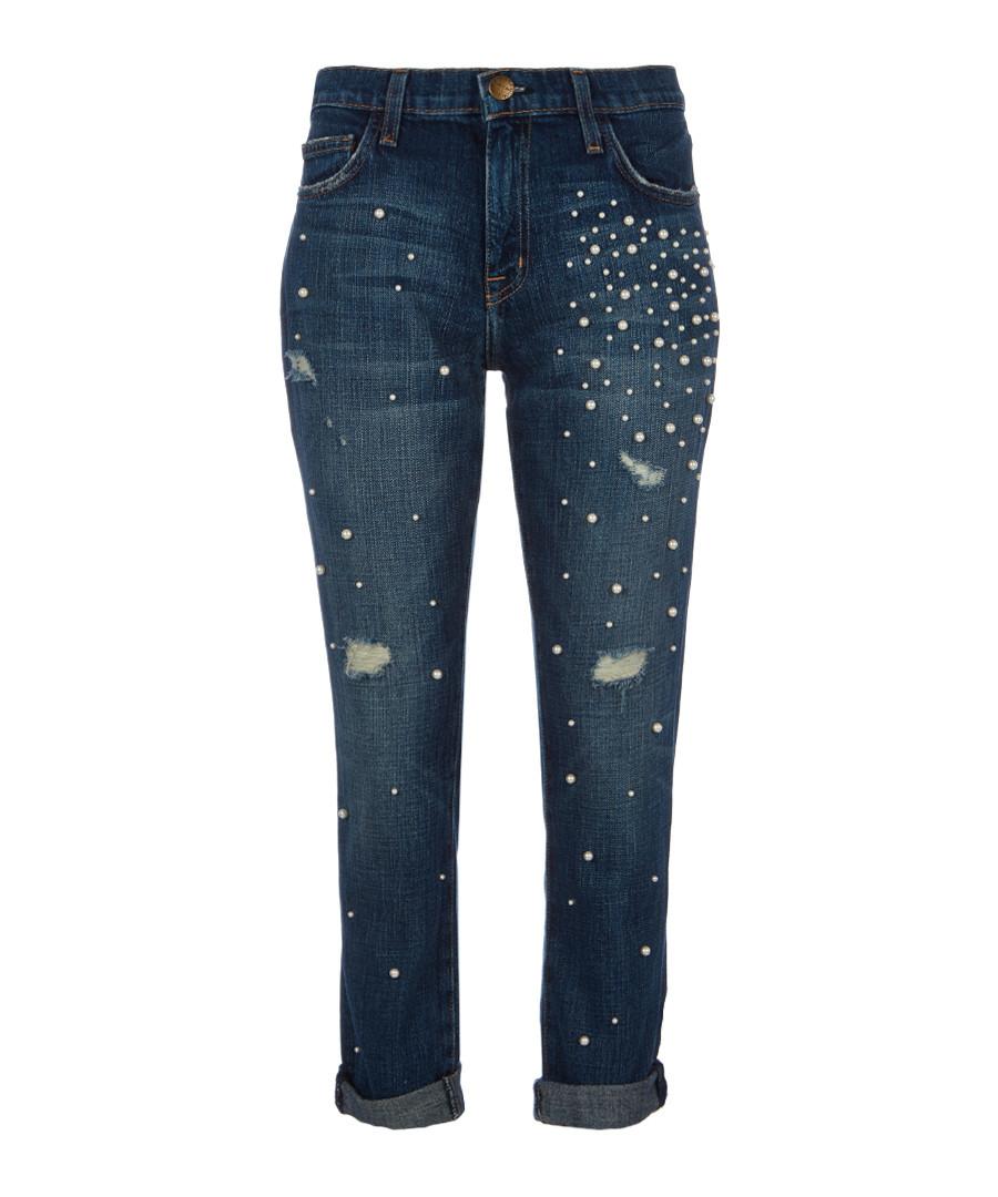 The Fling embellished boyfriend jeans Sale - Current Elliott