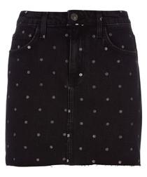The 5-Pocket cotton dotty mini skirt