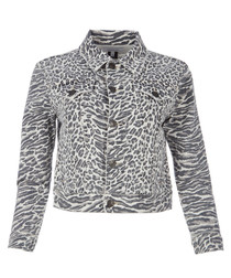 The Baby Trucker print jacket
