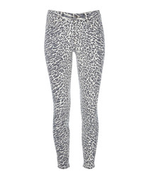 The Stiletto animal print skinny jeans