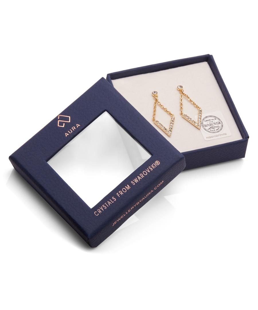 Diva Crystal & gold-plate Earrings Sale - Aura