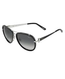 Grey double-bridge sunglasses
