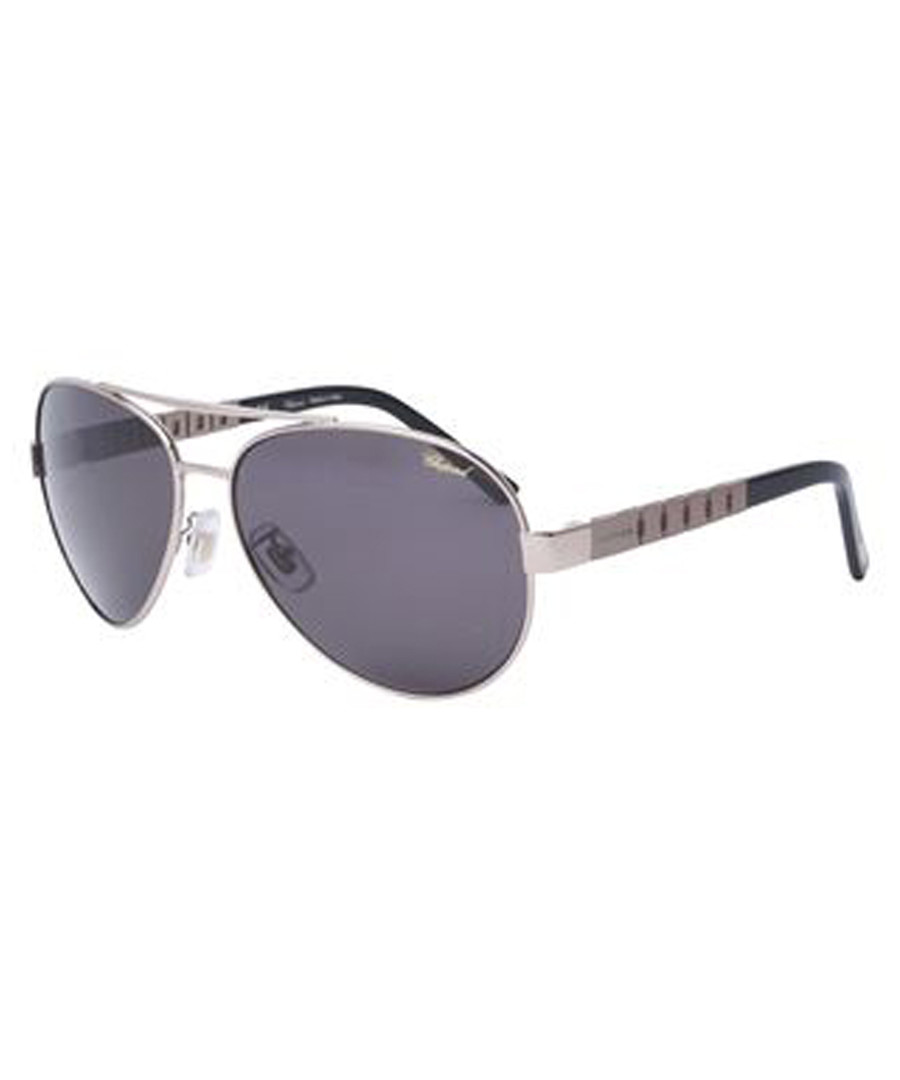 Silver-tone polarised pilot sunglasses Sale - chopard