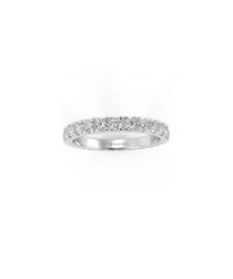1.00ct Diamond pave & white gold ring