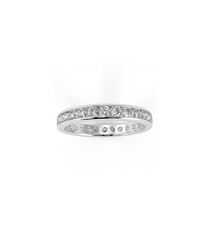 1.00ct Diamond & 9k white gold ring