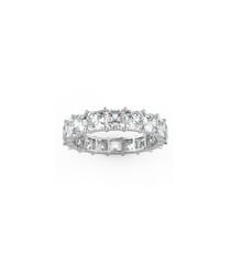 4.00ct Asscher diamond platinum ring
