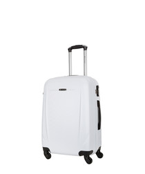 Bedford white spinner suitcase 60cm