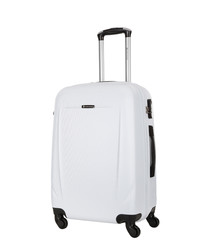 Bedford white spinner suitcase 70cm