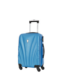 Delfino blue spinner suitcase 50cm