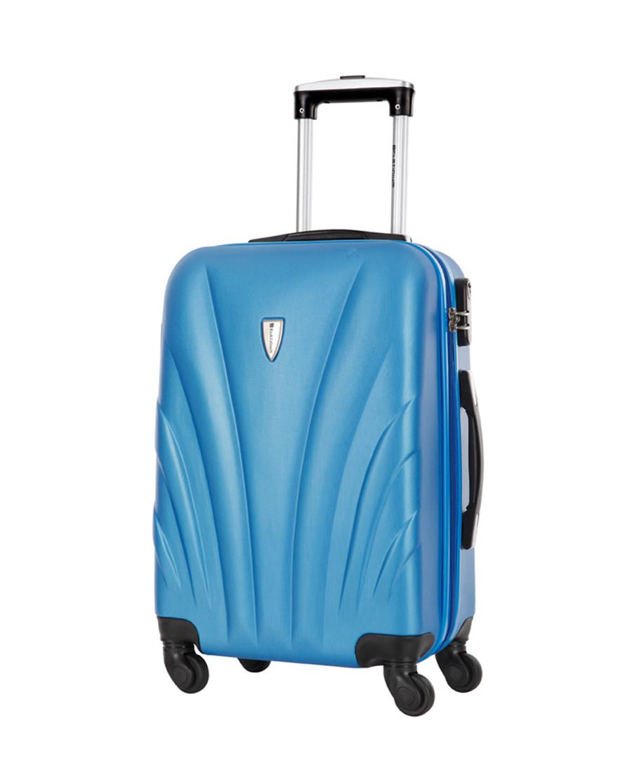 Delfino blue spinner suitcase 70cm Sale - platinium