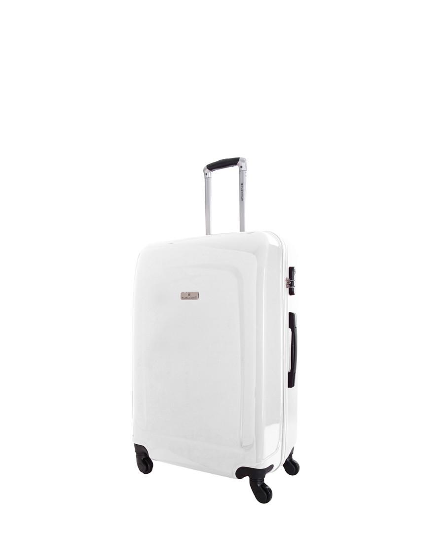 Clarks white spinner suitcase 60cm Sale - platinium