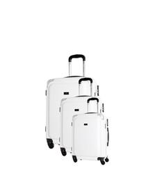 3pc Robinson white spinner suitcase set