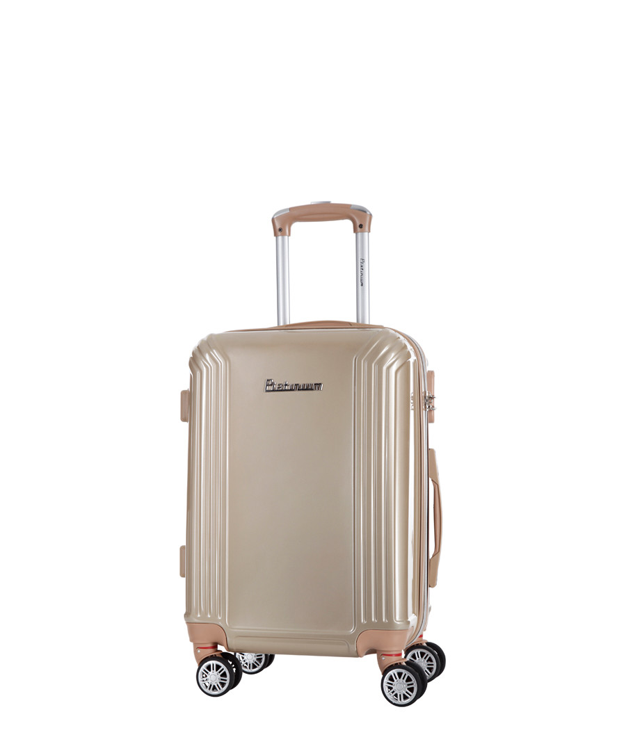 Valley beige spinner suitcase 50cm Sale - platinium