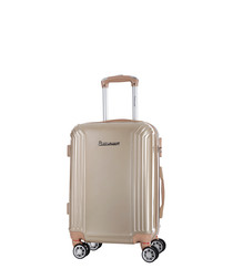 Valley beige spinner suitcase 50cm