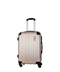 Delos beige spinner suitcase 46cm