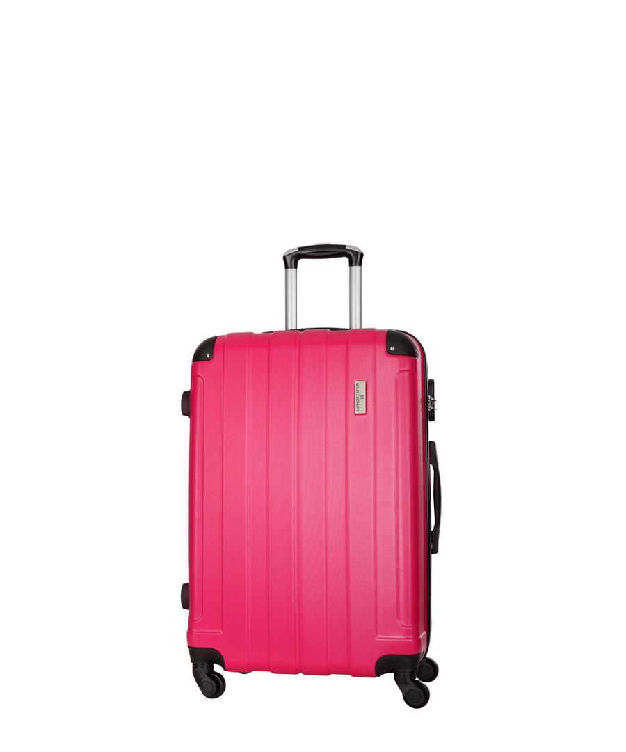 Delos fuchsia spinner suitcase 66cm Sale - platinium