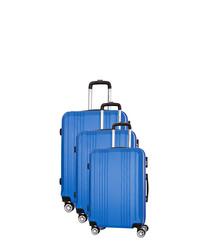 3pc Avila blue spinner suitcase set