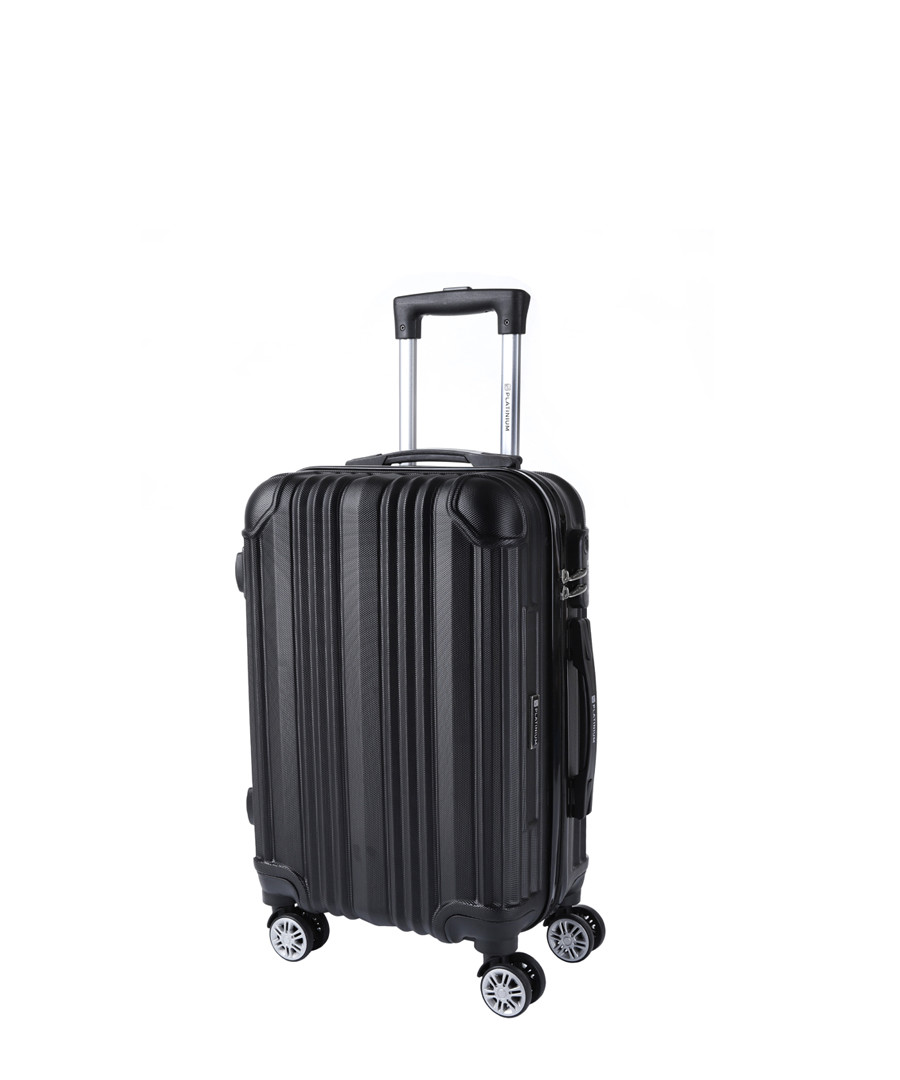 Copacabana black spinner suitcase 56cm Sale - platinium