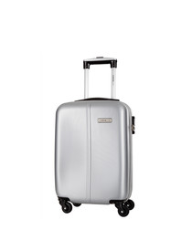 Juice silver spinner suitcase 46cm