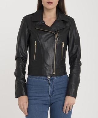 ca68ff3d999 Black leather biker jacket Sale - giorgio di mare Sale