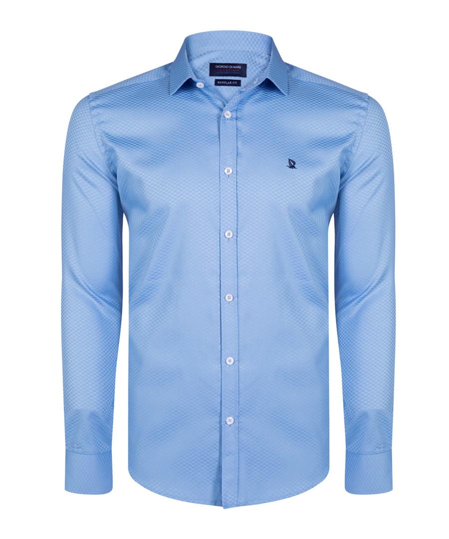 Blue pure cotton long sleeve shirt Sale - giorgio di mare