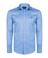 Blue pure cotton long sleeve shirt Sale - giorgio di mare Sale