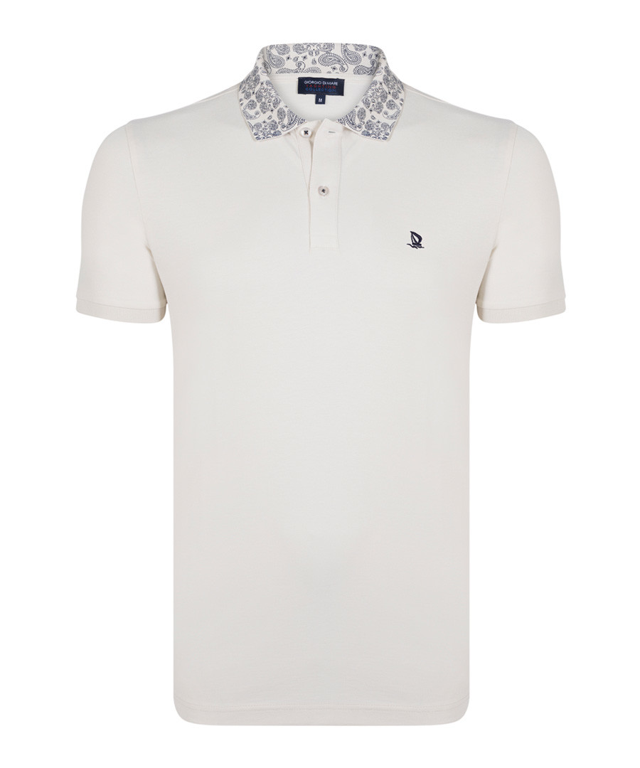 Ecru pure cotton polo shirt Sale - giorgio di mare