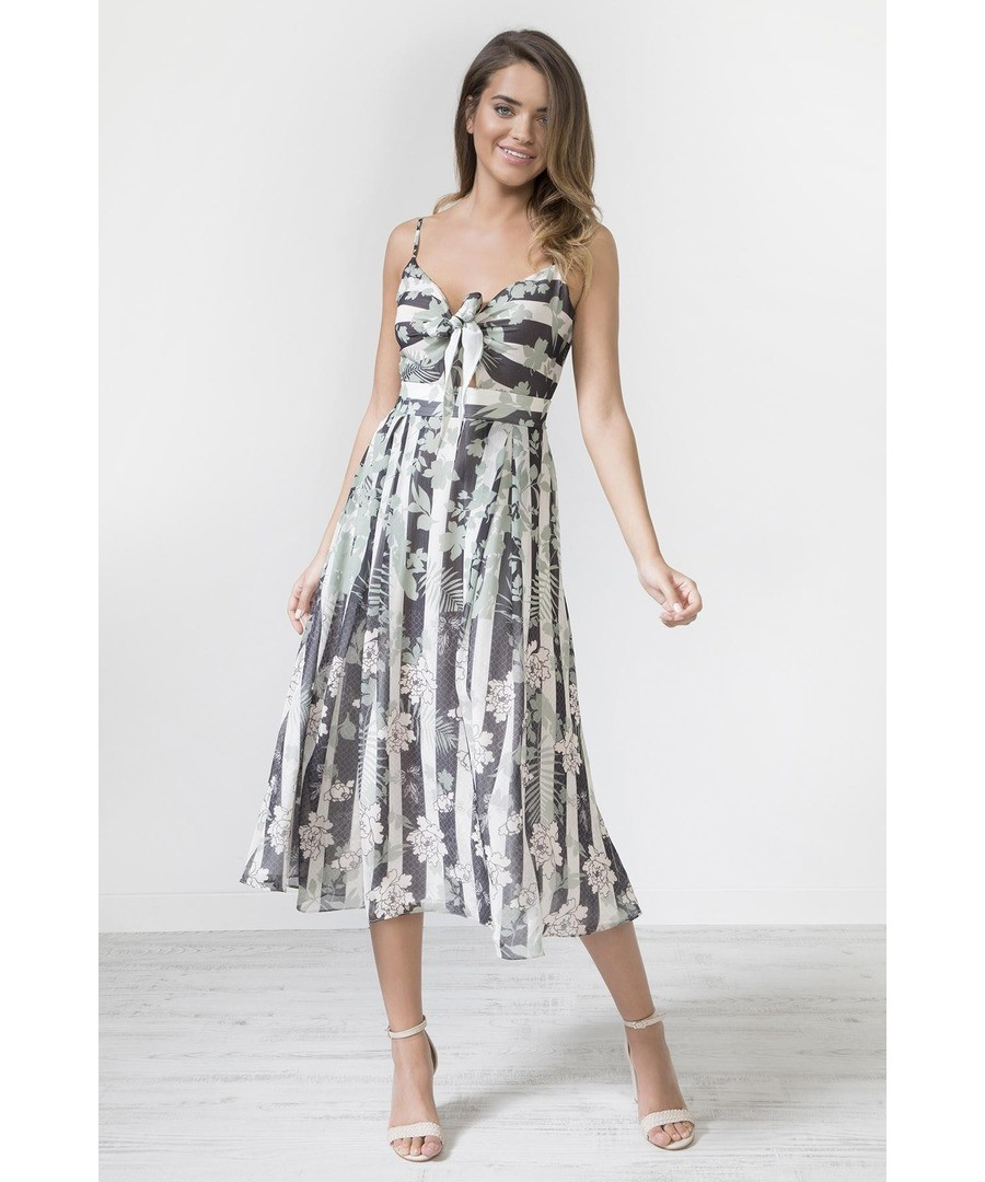 Tie Front Strap Print Dress Sale - Urban Touch
