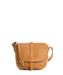 Mella tan leather crossbody bag