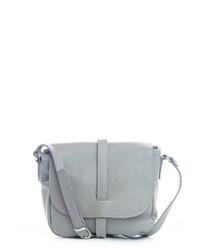 Mella grey leather crossbody bag