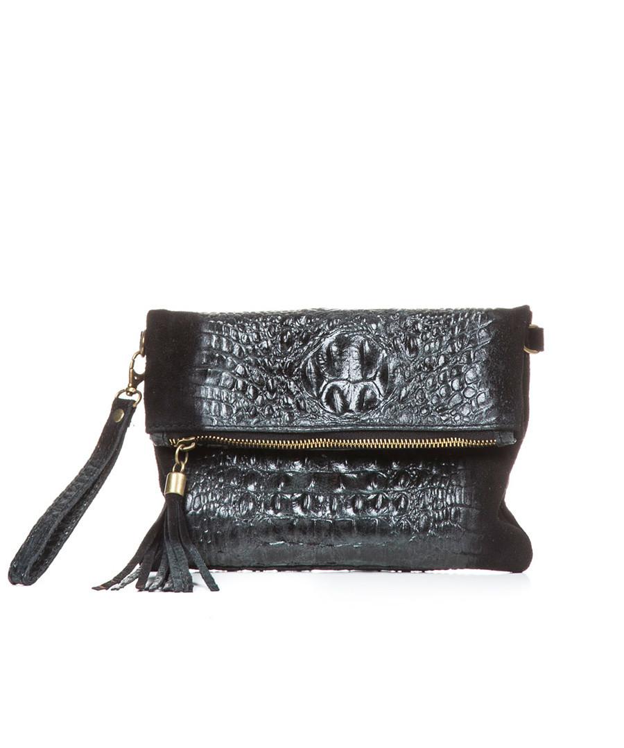 Serio black leather clutch bag Sale - lia biassoni