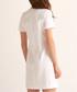White cotton embellished V-neck dress Sale - Rodier Sale