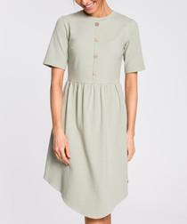 Pistachio button-down mini dress