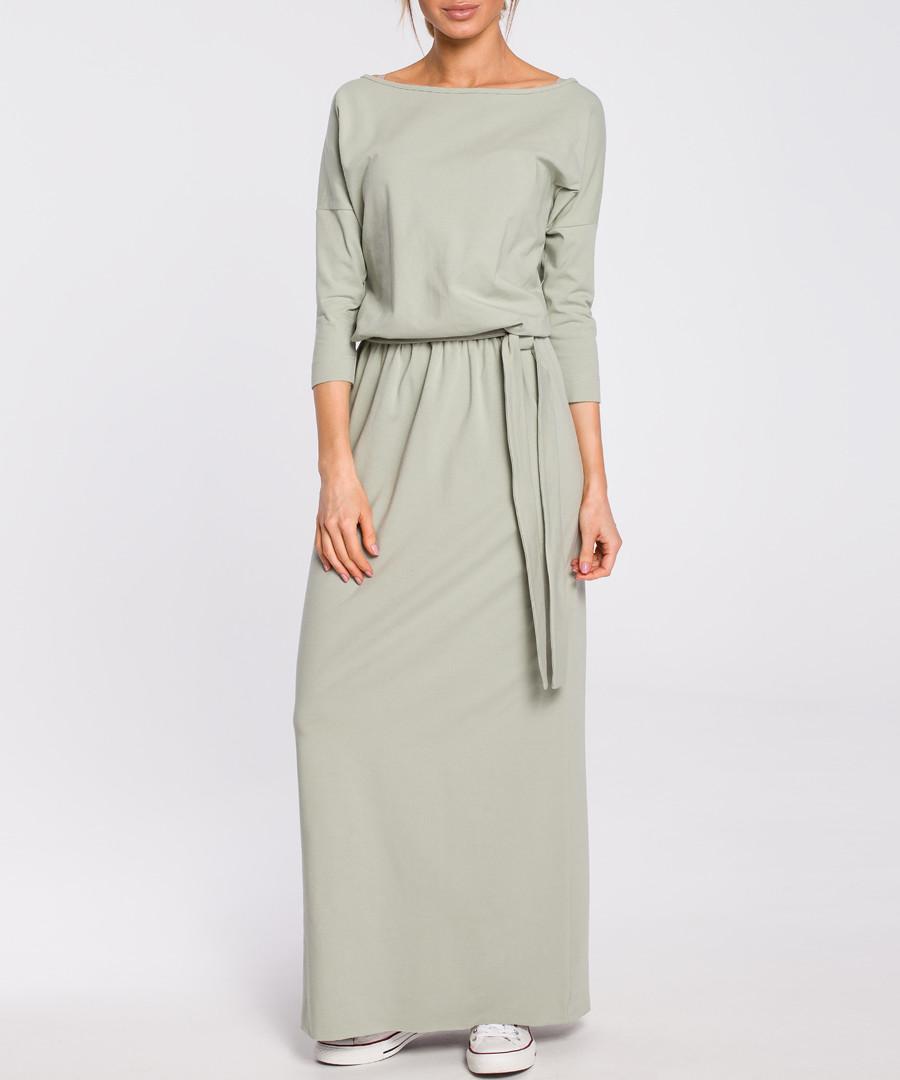 Pistachio off-the-shoulder maxi dress Sale - made of emotion