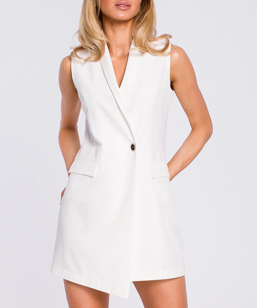 Ecru tuxedo mini dress Sale - made of emotion