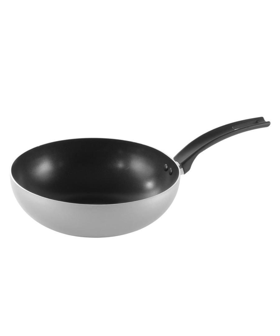 Grey aluminium wok 28cm Sale - pyrex