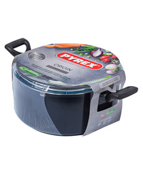 Blue aluminium stew pot 24cm