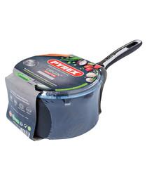 2pc Grey aluminium pan & lid 18cm