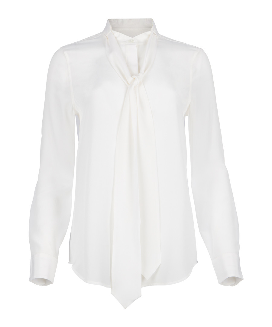 Carleen white pure silk tie blouse Sale - Equipment