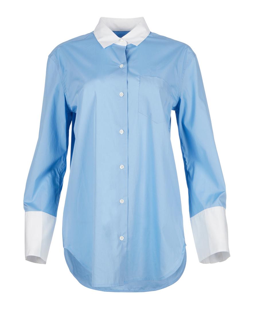 Clarke blue & white silk blouse Sale - equipment