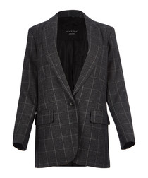 James grey wool blend blazer