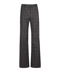 Hagan grey wool blend trousers