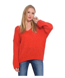 V neck mohair sweater