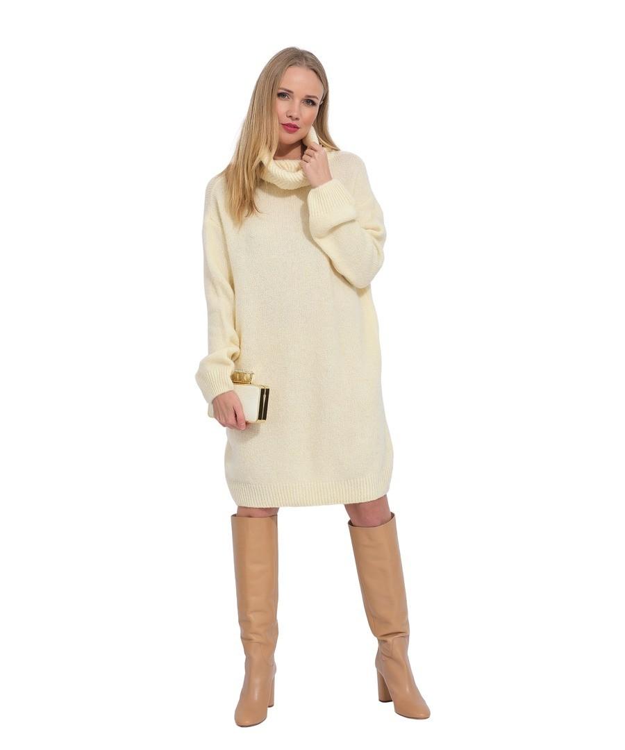 Turtleneck wool sweater dress Sale - ARTY BLUSH